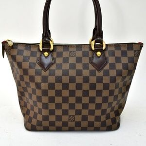 Auth Louis Vuitton Damier Ebene Saleya #1393L36